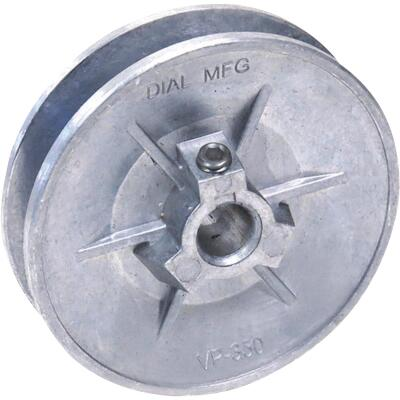 Dial 3-1/4 In. x 1/2 In. Variable Pulley for 1/3 HP Motor