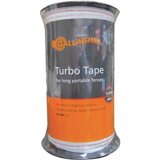 Gallagher 1/2 In. x 656 Ft. Polyethylene Electric Fence Turbo Tape