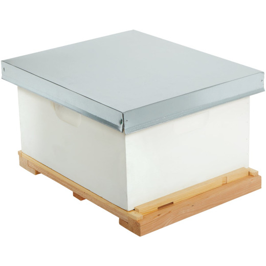 Little Giant 18.25 In. W. x 14 In. H. x 21.875 In. L. Assembled Deep Beehive, 10 Frames
