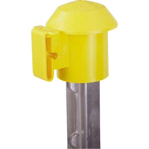 Dare Cap Yellow Polyethylene T-Post Electric Fence Insulator (10-Pack)